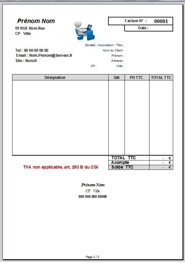 Info micro entreprise devis factures d claration rsi - Duree de validite d un devis ...